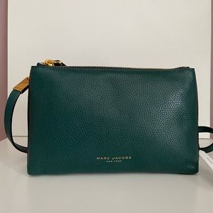 Marc Jacobs emerald 2 compartments crossbody